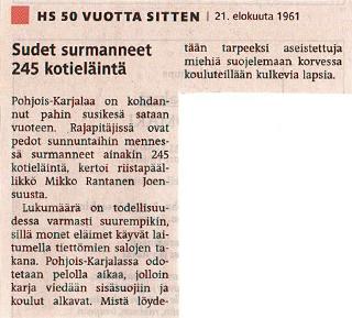 Helsingin Sanomat den 21 augusti 1961