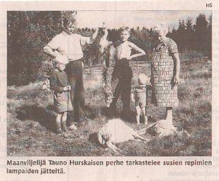 Bekymrade finska jordbrukare sommaren 1961.