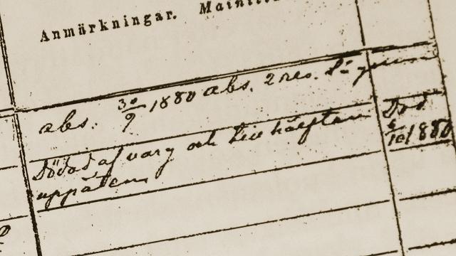 Ida Eufrosynentytär vargdödad 1880.