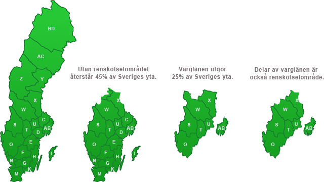 Sveriges vargkarta.