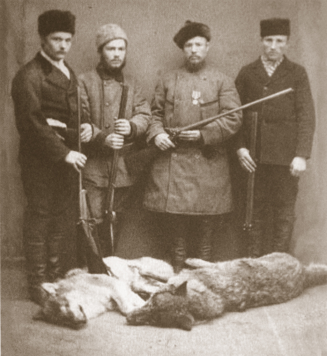 Lukaschen Jakim Isotoff med sina jägare i Tammerfors 1884