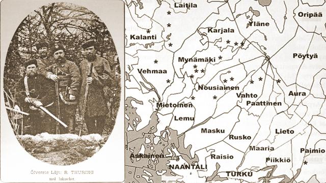 Överste-ljt Thuring och karta 1880-1881.