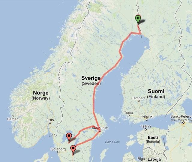 Flytt pågår nu av vargar från Övertorneå