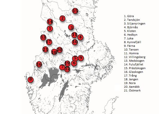 preliminära föryngringar 2012