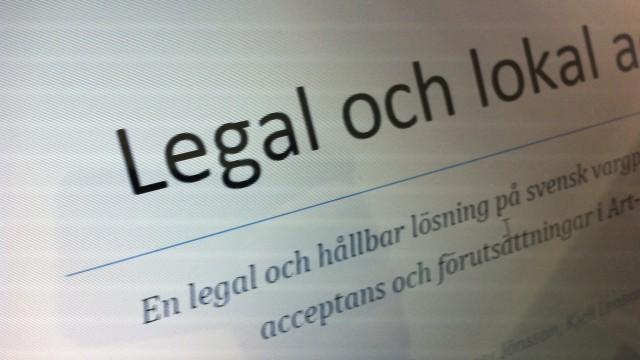 brukardokumentet legal och lokal acceptans
