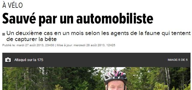cyklist angripen av varg kanada
