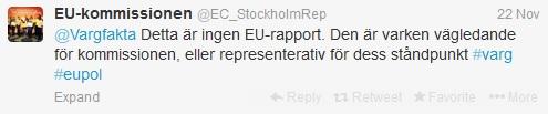 EU tar avstånd från kritiserat vargdokument