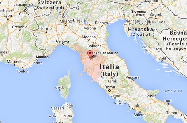 åtta vargar dödade och publikt exponerade italien