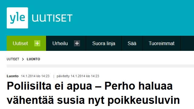 finsk kommun begär hjälp med vargar