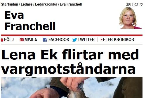 okunnigt om vargens tillväxt från Aftonbladet