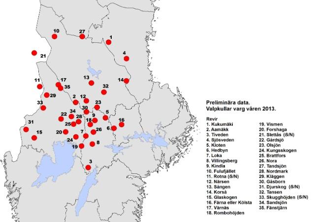 150 nya vargar 2013