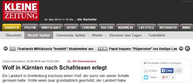 varg sköts i fårhage tyskland