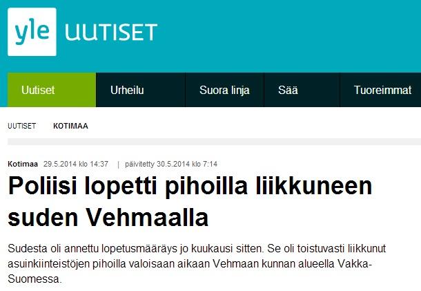 närgången varg skjuten av polis finland