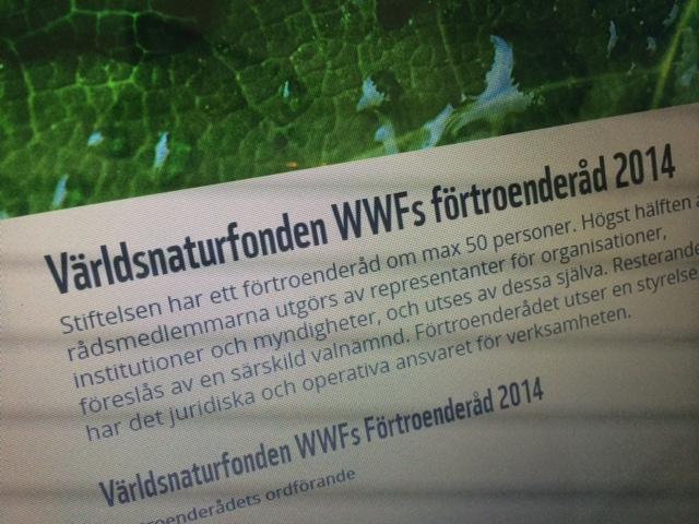SjF i WWF förtroenderåd
