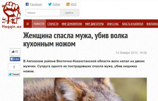 kvinna dödade varg med kökskniv