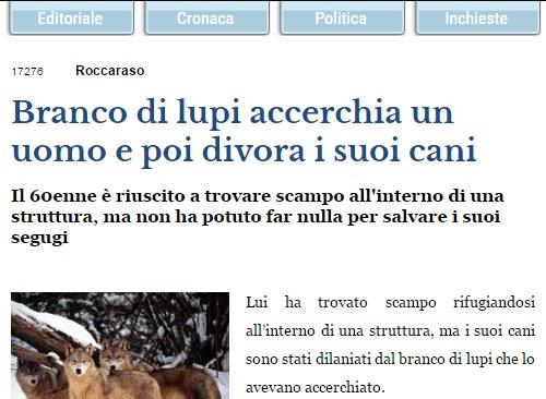 man omringad av vargflock förlorade två hundar